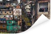 De Favela's in Rio de Janeiro Poster 90x60 cm - Foto print op Poster (wanddecoratie woonkamer / slaapkamer)