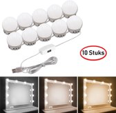 ProLED – Spiegellampen – 10 stuks – Inclusief dimmer – 3 meter lang - Speciale 3m plakkers - Make up spiegel LED verlichting - Hollywood mirror lights -