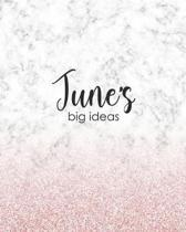 June's Big Ideas: Personalized Notebook - 8x10 Lined Women's Journal