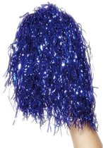 Pom Poms blauw - Cheerleader attribuut