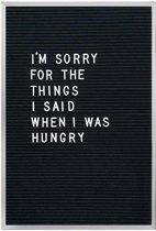 Letterbord - Inclusief 145 letters/cijfers - 28 x 35,5 cm - Zwart