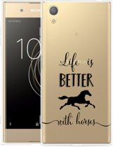 Sony Xperia XA1 Plus Hoesje Life is Better with Horses