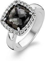 TI SENTO Milano Ring 1771BL - Maat 52 (16,5 mm) - Gerhodineerd Sterling Zilver