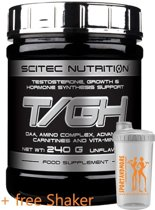 Scitec Nutrition - T/GH - Testosteron, Groei & Hormoonsynthese Support - Poeder - 240 g - 30 porties + gratis sportandmore shaker