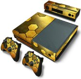 Steel Gold - Xbox One Console Skins Stickers