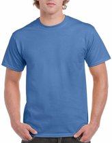 Irisblauw katoenen shirt voor volwassenen L (40/52)