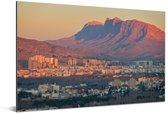 Zicht op de zonsopgang boven het Iraanse Shiraz Aluminium 90x60 cm - Foto print op Aluminium (metaal wanddecoratie)