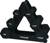 Tunturi Dumbbell set - met dumbbell opbergrek - 3
