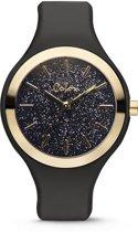 Colori Macaron Sparkle 5 COL516 Horloge - Siliconen Band - Ø 44 mm - Zwart / Goudkleurig