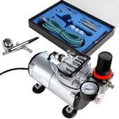 ABPST05 airbrush set met compressor, double action airbrush...