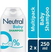Neutral 0% Baby Shampoo Parfumvrij - 2 x 250 ml - voordeelverpakking