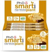 PhD - Smart Bar Plant (vegan) - Choc Toffee Popcorn (12x64g)