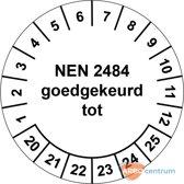 Keuringssticker NEN 2484 goedgekeurd tot  Ø 30 mm - 25 stickers