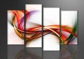 Colours - Canvas Schilderij Vierluik 130 x 80 cm