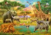 Fotobehang - African Animals - 8-delig - 366 x 254 cm - Multi