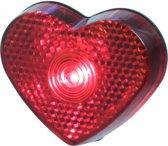 LED hartjes lampje op clip 5 cm
