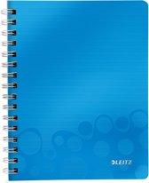 Leitz WOW Notitieboek - A5 - Gelijnd - Spiraalgebonden - PP kaft -Blauw