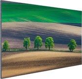 Velden Oost-Europa Aluminium 30x20 cm - klein - Foto print op Aluminium (metaal wanddecoratie)