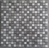 Mozaiek tegel RVS zwart zilver 800M