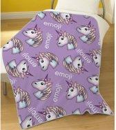 Emoji Unicorn - Fleeceplaid - 100 x 150 cm - Multi