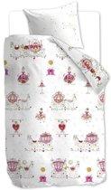 Beddinghouse Princess Carriages - Dekbedovertrek - Junior - 120x150 cm + 1 kussensloop 60x70 cm - Pink