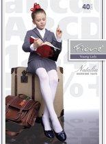kinder panty Natalia 128/134 wit