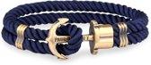 Paul Hewitt Anchor Bracelet PH-PH-N-N-M - Armband - Leer - Blauw - 18 cm