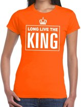 Oranje Long live the King Engels t-shirt dames 2XL