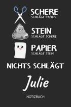 Nichts schl gt - Julie - Notizbuch