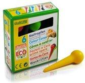 Ecologische waskrijt voor peuterknuistjes (6 kleuren)