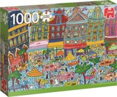Grote Markt Brussel Premium Quality - Puzzel 1000 stukjes