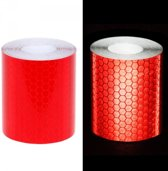 Reflecterende tape rood 3 meter x 5 cm breed