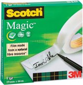 7x Scotch plakband Magic  Tape 19mmx66 m