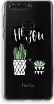 Honor 8 Transparant Hoesje (Soft) - Hey you cactus