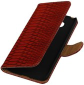 Snake Bookstyle Hoes voor LG Optimus L70 Rood