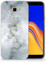 Samsung Galaxy J4 Plus (2018) TPU Siliconen Hoesje Painting Grey