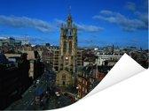 De St Nicholas Cathedral onder een blauwe lucht in Newcastle-upon-Tyne Poster 160x120 cm - Foto print op Poster (wanddecoratie woonkamer / slaapkamer) / Europese steden Poster XXL / Groot formaat!