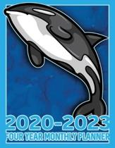 Killer Whale Orca 2020 - 2023 Four Year Monthly Planner: Calendar, Notebook and More