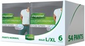 Depend Men Verband Normal L/XL Incontinentie - 54 stuks - Incontinentiebroekjes