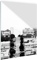 FotoCadeau.nl - San Francisco zwart-wit Glas 40x60 cm - Foto print op Glas (Plexiglas wanddecoratie)