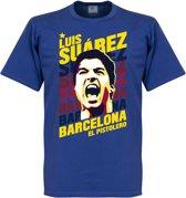 Luis Suarez Barcelona Portrait T-Shirt - M