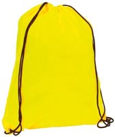 Neon gele rugzak / gymtas met rijgkoord / sluitkoord