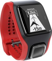 TomTom Multi-Sport Cardio - GPS Sporthorloge - zwart/rood