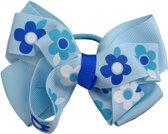 Jessidress Elastiekje Meisjes Haar elastiek met grote haarstrik - Blauw