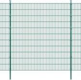 vidaXL Dubbelstaafmat 2008 x 2230 mm 8 m groen 4 stuks
