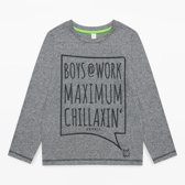 Esprit Jongens T-shirt - Grijs - Maat 116