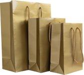 10x luxe papieren tassen goud Kies hier voor de maat van de tassen: 25x11x32cm