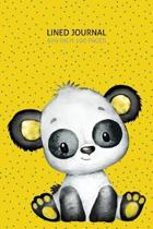 Baby Panda Lined Journal: 100 Page Lined Journal - 6x9 inch