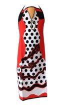Spaanse schort - Flamenco - keukenschort Flamenco roos zwart verkleedkleding
