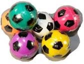 Stuiterbal gekleurde voetbal 3 cm Wit
